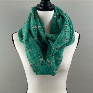 """Shyanne """"Shy Horses"""" Turquoise Infinity Scarf (L)"""